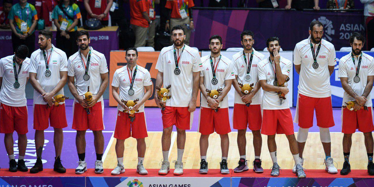 نائب قهرمانی تیم ملی بسکتبال ایران در مسابقات آسیایی جاکارتا